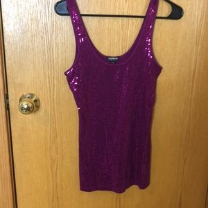 Express Sexy Basic Sequin Tank